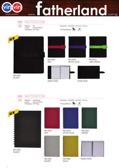 NOTEBOOK VINVIN CREATION CATALOG 70