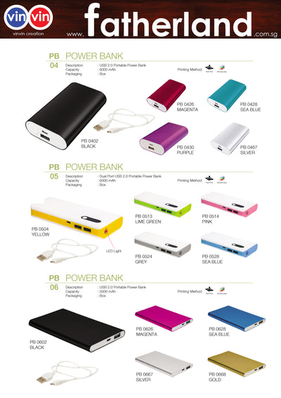 POWER BANK VINVIN CREATION CATALOG 72