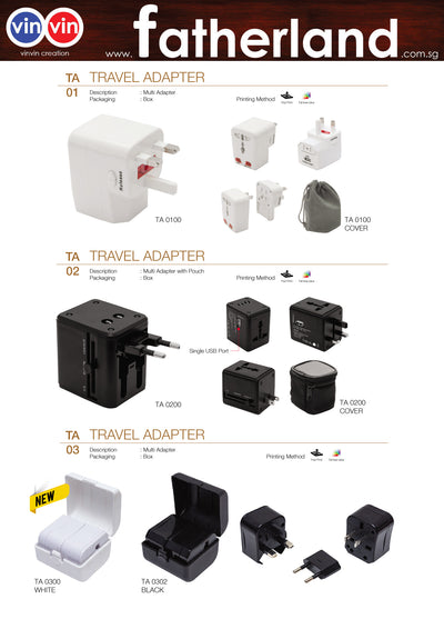TRAVEL ADAPTER VINVIN CREATION CATALOG 74
