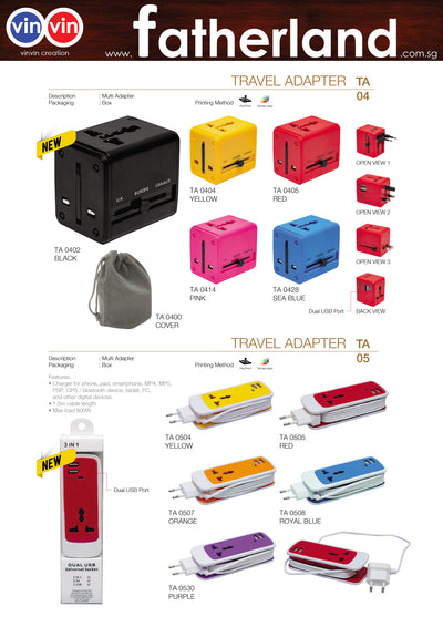 TRAVEL ADAPTER VINVIN CREATION CATALOG 75