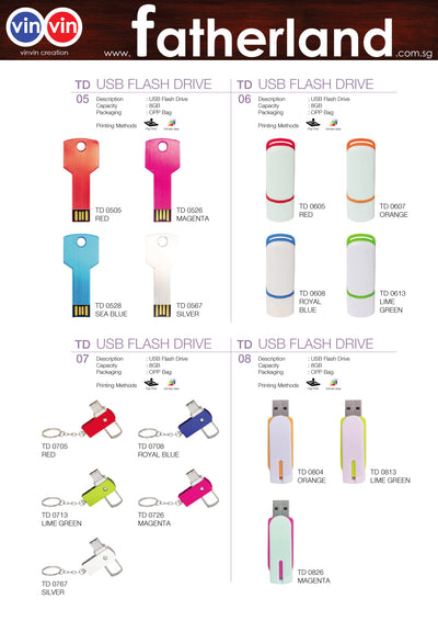 USB FLASH DRIVE VINVIN CREATION CATALOG 84