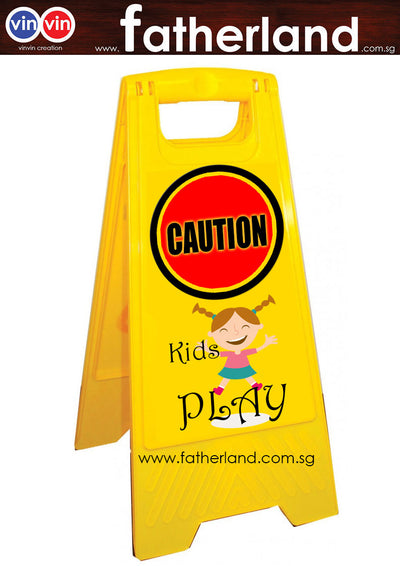Cartoon Caution A-Stand with for Kids Play