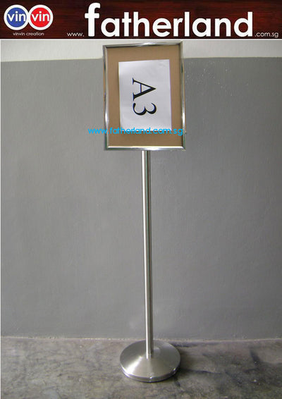 Queue-Sign Stand (Portrait) - A3 Size ( Model : Vin-A3-P1 )