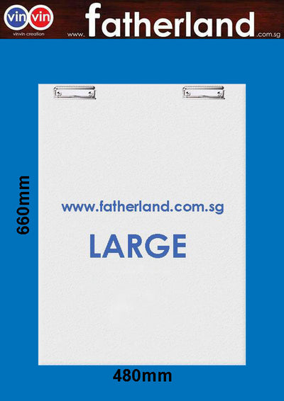 LARGE SIZE 5MM PVC CLIP BOARD 660 X 480MM