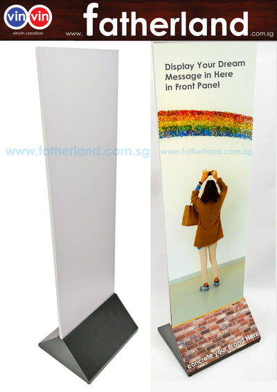 Double Sided Airport Stand (Black) ( With Print ) - 142cm x 49.5cm