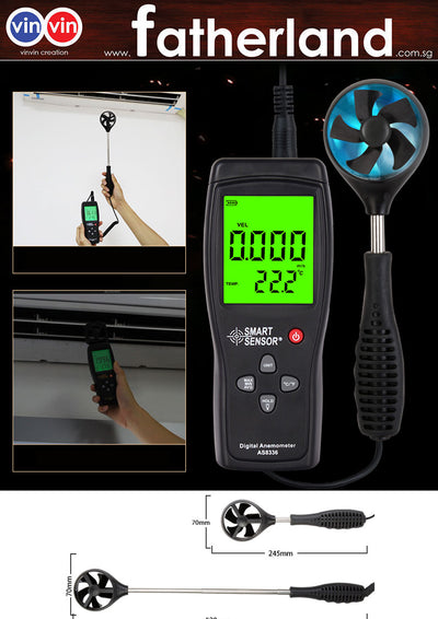 Digital Anemometer High precision 0.001~ 45m/s