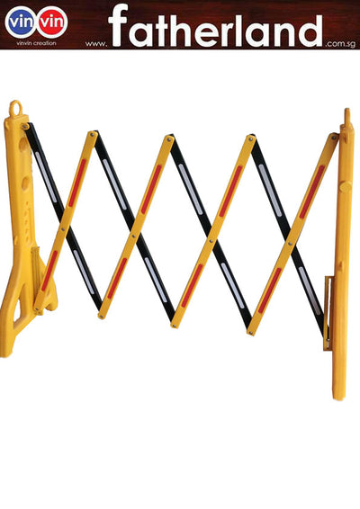 VINVIN PLASTIC EXPANDABLE BARRICADE YELLOW AND BLACK