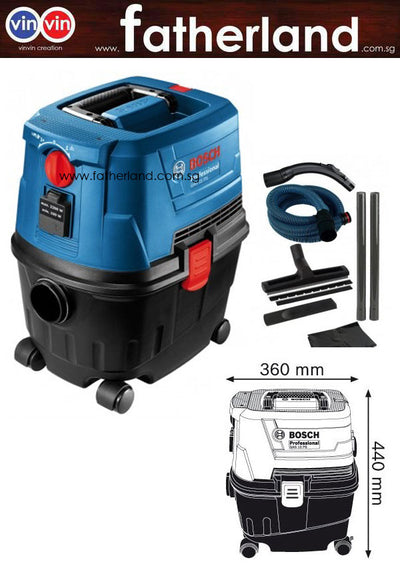 BOSCH WET AND DRY VACUUM CLEANER, 1100W, GAS15PS