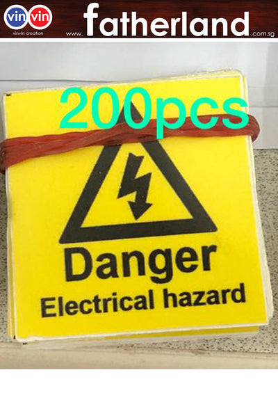 DANGER ELECTRICAL HAZARD 40X40MM