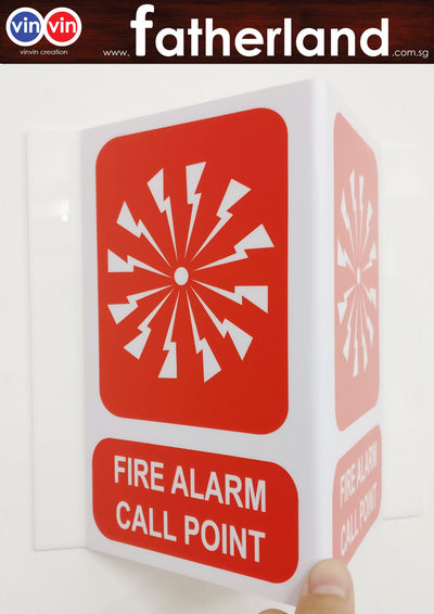 FIRE ALARM CALL POINT TRIANGLE SIGN