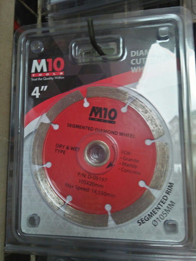 "M10 DIAMOND WHEEL 4 "" DRY"