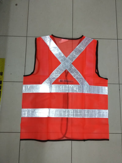 SAFETY REFLECTIVE VEST ( ORANGE )