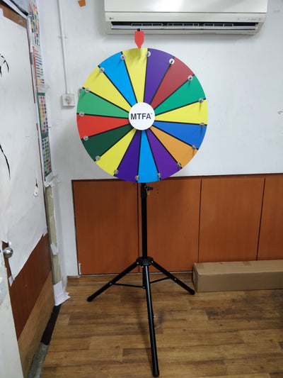 WHEEL OF FORTUNE 800MM PORTABLE WITH SOUND CLICKER