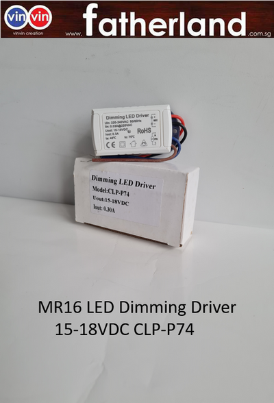 MR16 LED Dimming Driver 15-18VDC CLP-P74