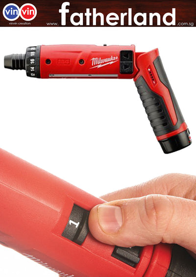"MILWAUKEE 4V 2.0AH LI-ION 1/4"" HEX.SHANK STICK DRIVER, M4D"