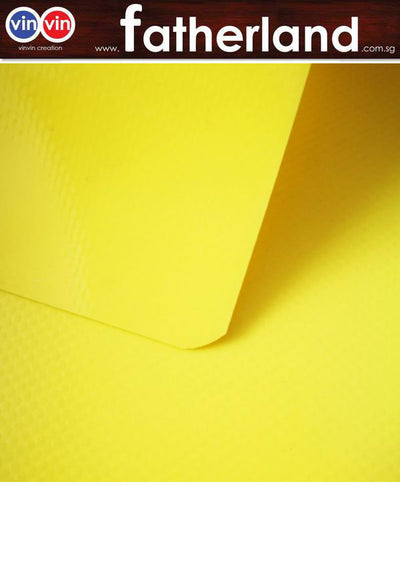 #420 YELLOW PVC CANVAS COVER C/W VELCO - 192'' X 120'' X 110'' ( H )
