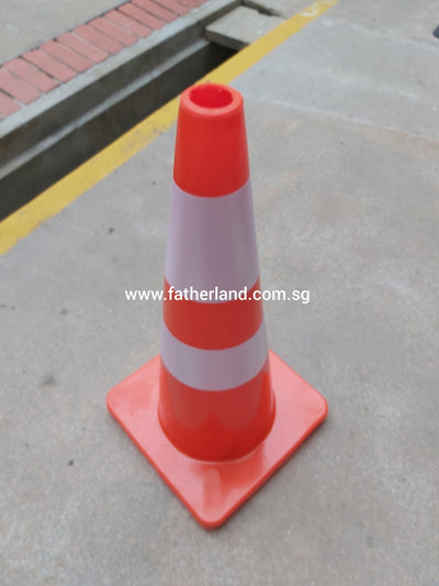 "SAFETY CONE 30"" RUBBER TEXTURE TYPE"