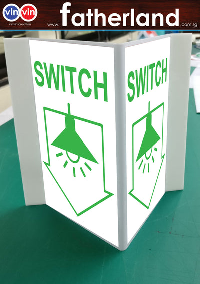 SWITCH TRIANGLE SIGN ARROW