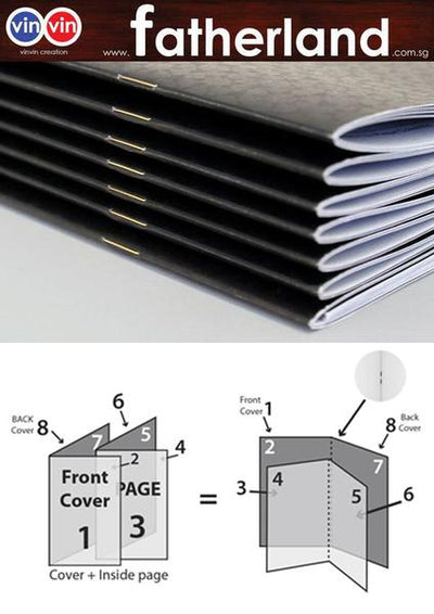Catalogue Binding with Saddle stitch; 16pp + Cover