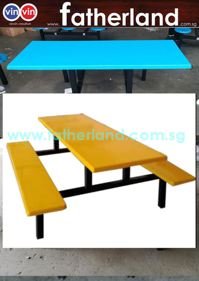 Long Bench Fibreglass Canteen Set