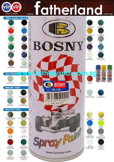 BOSNY SPRAY PAINT No. 1007 Flat White
