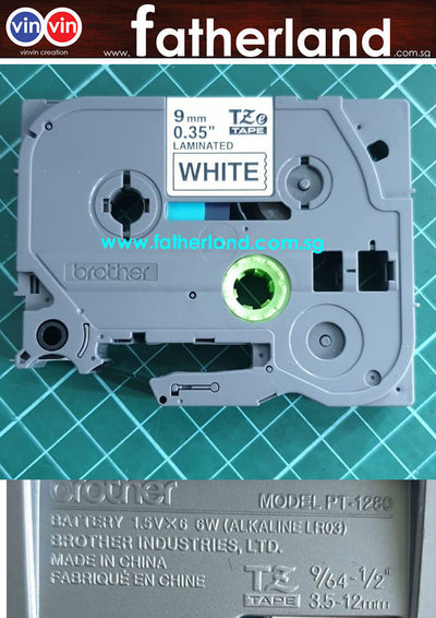 Brother Tz Label Tape 9Mm(Black On White)
