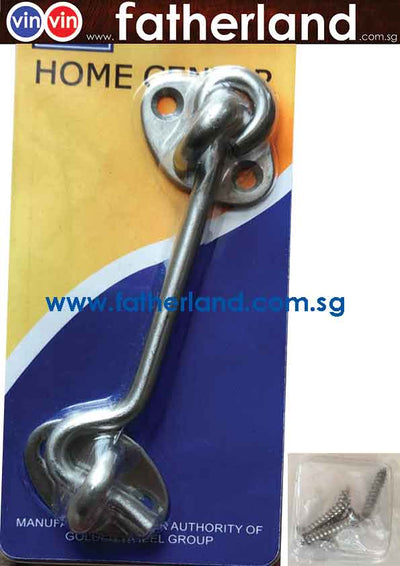 "STAINLESS STEEL  4"" CABIN HOOK"
