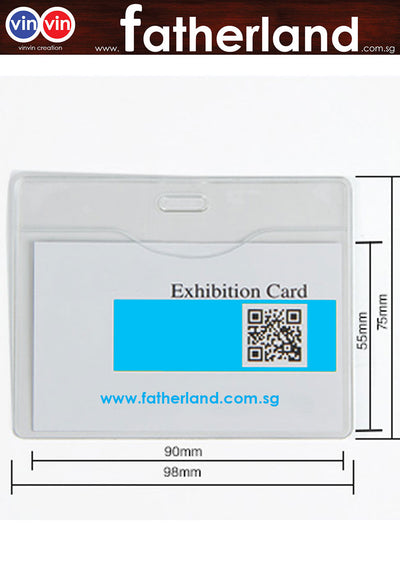 EXHIBITION ID HOLDER LANDSCAPE ( FIRM )
