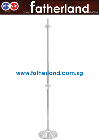 CLIP POLE STAINLESS STEEL ( Adjustable )