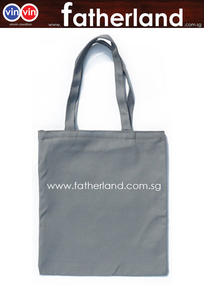 Canvas cotton tote shopping shoulder bag  (Sliver )