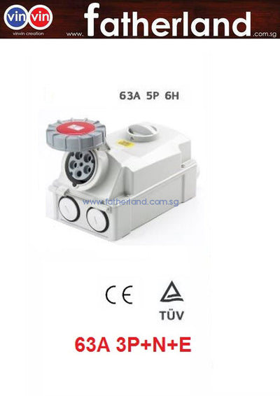 5pin isolator 63A Socket Outlet