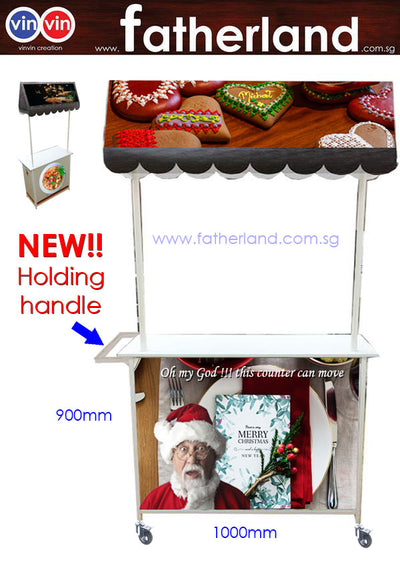 Mobile Promotion Counter Large 3D Effect with Movable handle