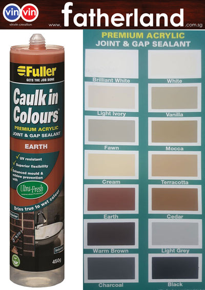 FULLER CAULK IN COLOURS ACRYLIC SEALANT 450G ( EARTH )