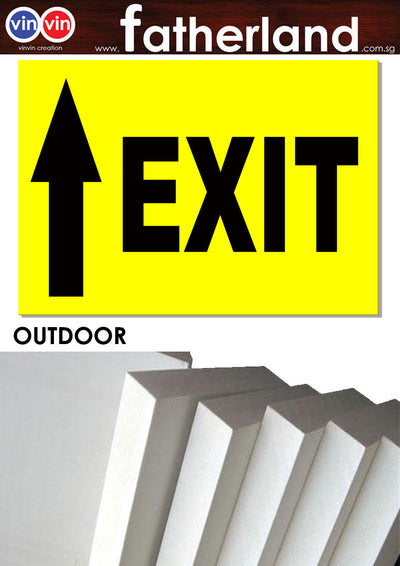 EXIT WITH ARROW OUTDOOR SIGNAGE