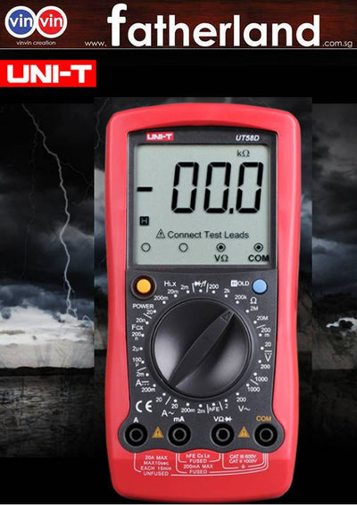 UNI-T UT58A/B/C/D/E Manual Range General Digital Multimeter; Resistance/Capacitance/Frequency/Temperature TestUNI-T UT58A Digital Multimeter AC DC Voltmeter with Large LCD Screen Data Hold Buzzer Tester Multimeter
