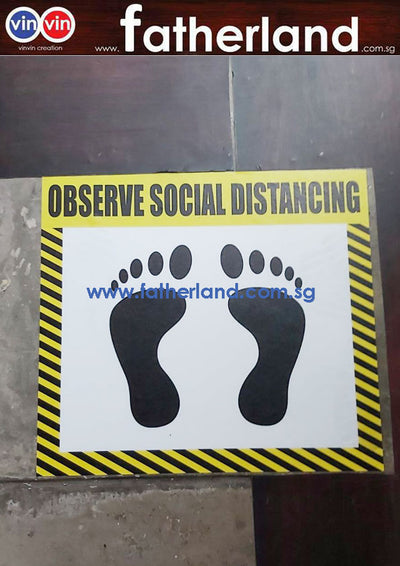 SOCIAL DISTANCING FLOOR MARKER ( PINK / PURPLE DESIGN )