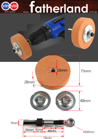VINVIN GRINDING STONE WITH HOLDER FOR HAND DRILL