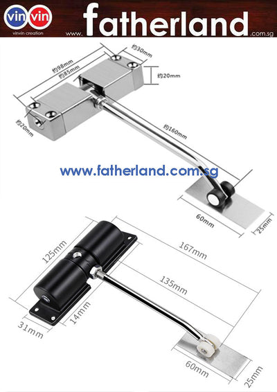 VIN RST-83 REBOUND SPRING DOOR CLOSER