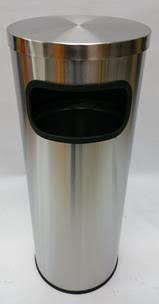 STAINLESS STEEL BIN 295 x H760 mm OPEN TOP COVER