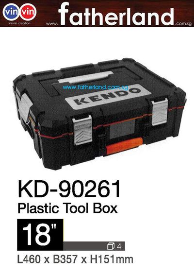 "Kendo 18"" Systainer Unit Tool Box L460xB357xH151mm"
