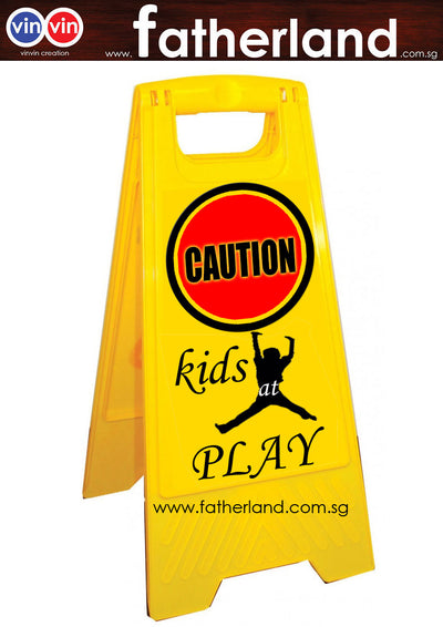 Caution A-Stand with for Kids Play Design 2
