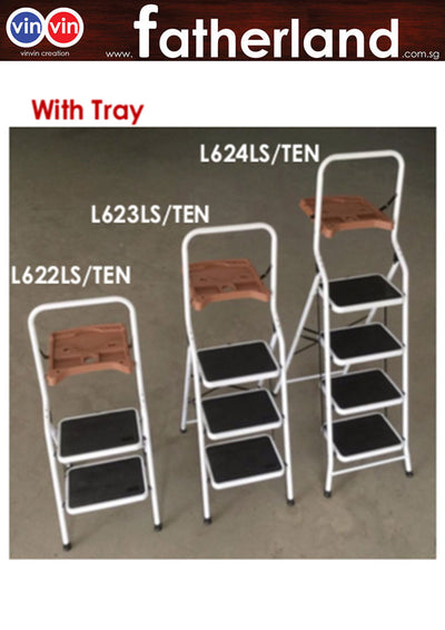 FOLDABLE LADDER FOR HOME & OFFICE WITH TRAY