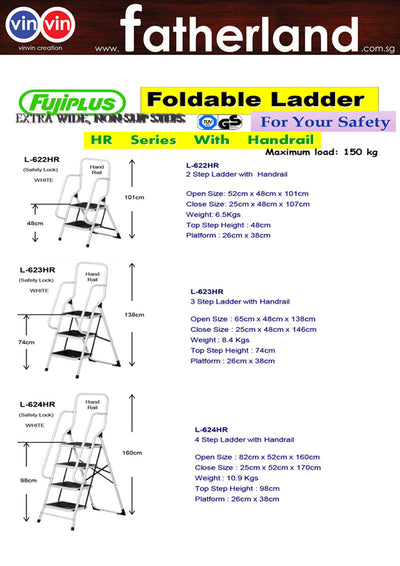 FUJIPLUS FOLDABLE LADDER L-624HR