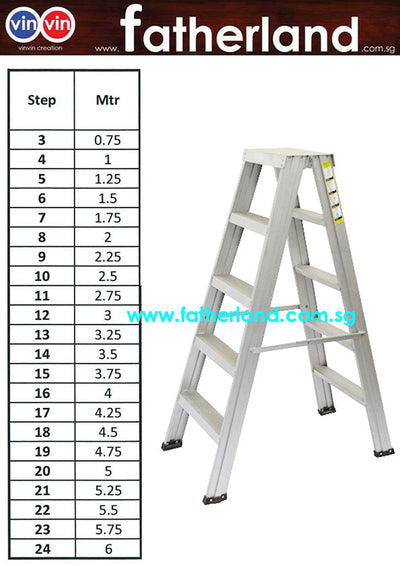 Double Sided A ladder Two Way Aluminium A-Shape Ladder ( 150kg )