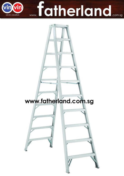 Double Sided A ladder 8 steps Two Way Alum. A-Shape Ladder