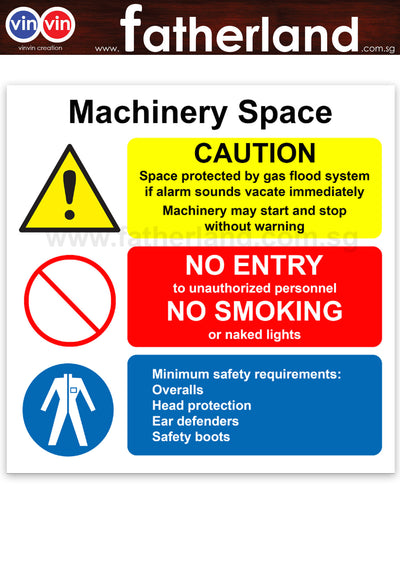 MACHINERY SPACE SAFETY SIGNAGE