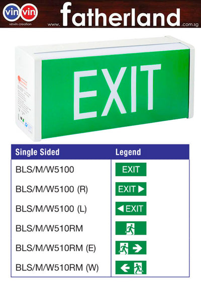 MAXSPID EMERGENCY EXIT LIGHT BOXSTER BLS/M/W5100