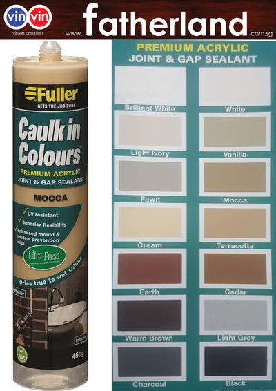 FULLER CAULK IN COLOURS ACRYLIC SEALANT 450G ( MOCCA )
