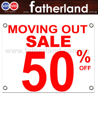 MOVING OUT SALE 50% PVC Canvas with Eyelet