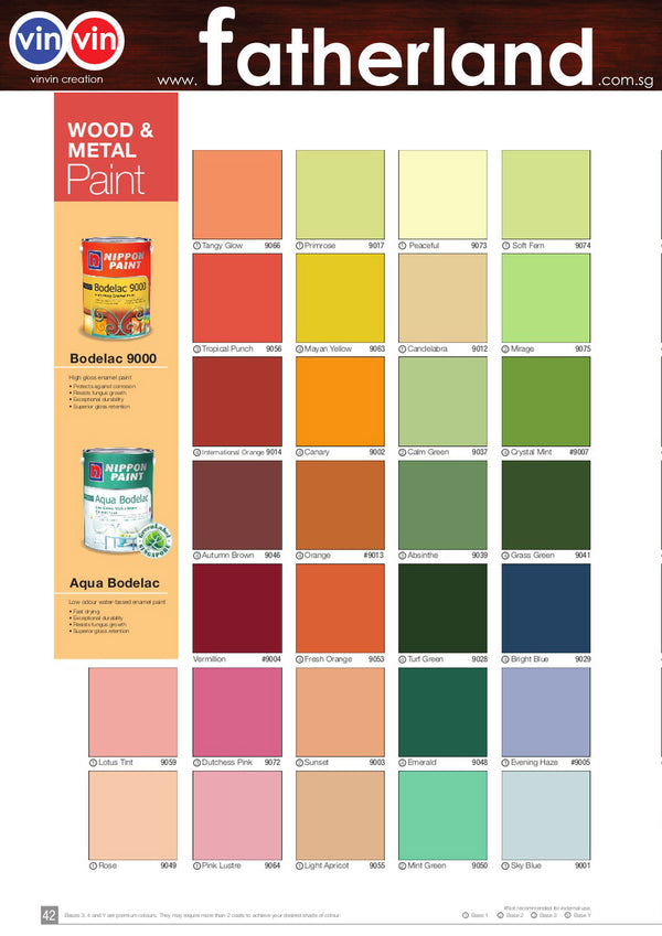 Nippon Paint Aqua Bodelac 5l For Wood Metal Comes With 59